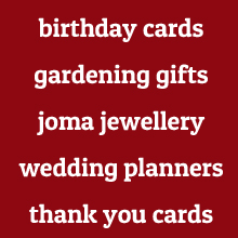 Birthday cards, coma jewellery, gardening gifts by Squashed Tomato