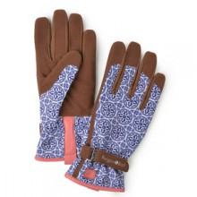 patterned, sized, ladies gardening gloves