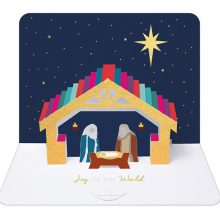 Religious christmas cards, 3D handmade boxed christmas cards
