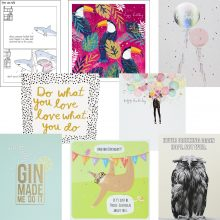 packs of 8 birthday cards for men or women, greeting cards for any age.