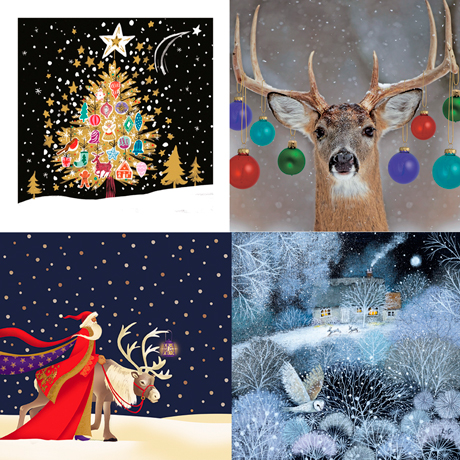 Christmas cards for charity, Macmillan cancer support, stroke associations and BHF