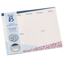 Busy B stationery gifts, weekly desk planner pad